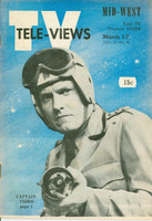 1952 TV Televiews March 1 Captain Video (32 pg) Midwest edition Very Good - No Mailing Label  [Lt wear on cover, lt staple rust; sm fraying on back cover; ow clean]