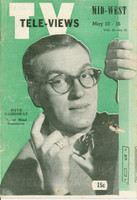1952 TV Televiews May 10 Dave Garroway (32 pg) Midwest edition Very Good  [Heavy vertical crease, wear on cover; contents fine]