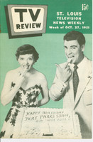 1951 TV Review October 27 Bert Parks (24 pg) St. Louis edition Excellent to Mint - No Mailing Label  [Very clean example]