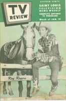 1952 TV Review January 19 Roy Rogers St. Louis edition Fair to Good - No Mailing Label  [Heavy staining from moisture throughout bottom 1/4 of book; listings fine]