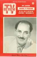 1952 TV Review November 29 Groucho Marx St. Louis edition Excellent to Mint - No Mailing Label  [Very clean example]