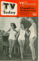 1952 TV TODAY July 5 Willowy Ladies (32 pg) Detroit edition Very Good to Excellent - No Mailing Label  [Wear on both covers; contents fine]