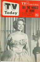 1952 TV TODAY August 23 Dinah Shore (24 pg) Detroit edition Very Good to Excellent - No Mailing Label  [Wear on cover, sl bend along binding; contents fine]