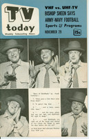 1952 TV TODAY November 29 Frank Fontaine (32 pg) Detroit edition Excellent to Mint - No Mailing Label  [Very clean]