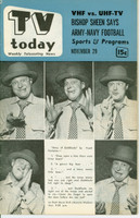 1952 TV TODAY November 29 Frank Fontaine (32 pg) Detroit edition Very Good to Excellent - No Mailing Label  [Lt wear on cover, contents fine]