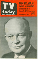 1953 TV TODAY January 17 President Eisenhower (32 pg) Detroit edition Very Good - No Mailing Label  [Lt wear on cover, contents fine]