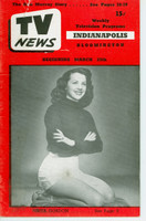 1952 TV News March 28 Anita Gordon Indiana edition Very Good  [Small tear on cover, ow very clean; contents fine]
