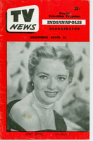 1952 TV News April 25 Jane Nigh Indiana edition Good to Very Good  [Heavy wear and lt staining on cover, contents fine]