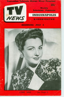 1952 TV News July 4 Lynn Bari Indiana edition Very Good  [Vertical crease, contents fine; stray WRT in pencil on reverse]