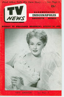 1953 TV News August 14 Faye Emerson Indiana edition Very Good  [Wear and creasing on cover; contents fine]