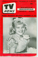 1953 TV News November 20 Gayla Peevey Indiana edition Very Good - No Mailing Label  [Wear and fraying on cover; contents fine]