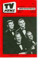 1956 TV News February 3 Swanee River Boys Indiana edition Good to Very Good  [Heavy creasing on cover; contents fine]