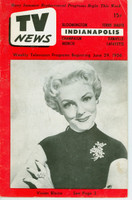 1956 TV News June 29 Vivian Blaine Indiana edition Very Good  [Wear and creasing on cover; contents fine]