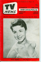 1956 TV News July 27 Eydie Gorme Indiana edition Fair to Good  [Heavy creasing and lt staining on cover; contents fine; reverse cover damaged]