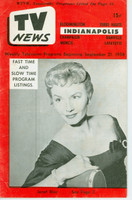 1956 TV News September 21 Janet Blair Indiana edition Very Good to Excellent  [Wear and creasing on cover; contents fine]