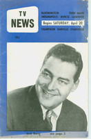 1957 TV News April 20 Jack Barry Indiana edition Fair to Good  [Heavy wear, discoloration, creasing on cover; contents fine]