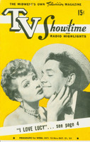 1951 TV Showtime October 15 Lucille Ball and Desi Arnaz - I Love Lucy Debut Season (16 pg) Midwest edition Very Good  [Sl vertical crease; wear on both covers, contents fine]