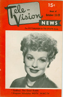 1951 Tele-Vision News October 13 Lucille Ball (32 pg) Pittsburgh edition Excellent - No Mailing Label  [Lt wear on binding, ow very clean]