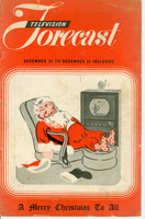 1948 TV FORECAST December 20 Santa Relazing in Front of TV (16 pg) Chicago edition Very Good  [Vertical crease on cover, wear on both covers; contents fine]
