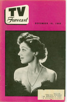 1949 TV FORECAST December 10 Toni Gilman (24 pg) Chicago edition Excellent  [Lt toning, wear on binding; contents fine]
