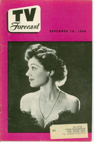1949 TV FORECAST December 10 Toni Gilman (24 pg) Chicago edition Excellent to Mint  [Very clean example]