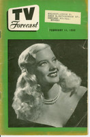 1950 TV FORECAST February 11 Mary Hartline (32 pg) Chicago edition Very Good  [Lt curl along binding, heavy toning; contents fine]