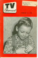 1950 TV FORECAST February 18 Young Boy (32 pg) Chicago edition Excellent  [Lt wear on cover, ow clean]