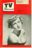 1950 TV FORECAST March 18 Susann Shaw (32 pg) Chicago edition Very Good to Excellent  [Wear and crease on cover; contents fine]