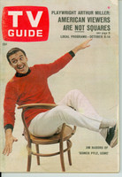 1966 TV Guide Oct 8 Jim Nabors of Gomer Pyle Colorado edition Good to Very Good - No Mailing Label  [Sl loose at staples, heavy wear on cover, top corner frayed]