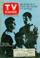 1968 TV Guide Aug 24 Star Trek St. Louis edition Good to Very Good  [Heavy moisture on cover, sl loose at staples; contents fine]