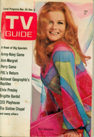 1968 TV Guide Nov 30 Ann-Margaret Missouri edition Very Good - No Mailing Label  [Lt wear and creasing on cover; contents fine]