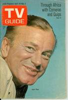 1969 TV Guide Apr 26 Jack Paar South Texas edition Very Good to Excellent - No Mailing Label  [Lt wear on cover; ow clean]