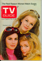 1970 TV Guide Feb 14 Bracken's World Starlets St. Louis edition Very Good to Excellent - No Mailing Label  [Lt scuffing and creasing on cover; ow clean]