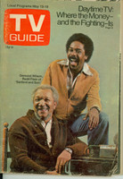 1972 TV Guide May 13 Sanford and Son (First Cover) Eastern New York edition Very Good - No Mailing Label  [Loose at staples; wear on cover, contents fine]