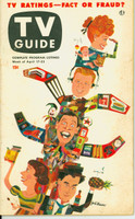 1953 TV Guide Apr 17 TV Ratings (Milton Berle, Godfrey, Lucy, Caesar) Chicago edition Very Good to Excellent - No Mailing Label  [Heavy toning on cover; contents fine]