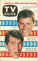1953 TV Guide Jun 5 Dean Martin and Jerry Lewis Northwest edition Near-Mint - No Mailing Label  [Lt wear on cover, ow very clean]