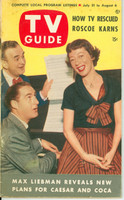 1953 TV Guide Jul 31 Sid Caesar and Imogene Coca NY Metro edition Very Good to Excellent - No Mailing Label  [Lt wear on cover, ow clean]