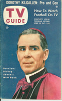 1953 TV Guide Oct 9 Bishop Sheen Chicago edition Very Good to Excellent - No Mailing Label  [Lt wear on cover, ow very clean]