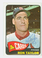 Ron Taylor AUTOGRAPH 1965 Topps #568 Cardinals HIGH NUMBER CARD IS CLEAN EX  [SKU:TaylR1499_T65BBJ]