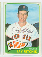 Jay Ritchie AUTOGRAPH d.16 1965 Topps #494 Red Sox SEMI HIGH NUMBER CARD IS CLEAN VG; SL BEND  [SKU:RitcJ2817_T65BBJ]