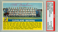 Otto Graham AUTOGRAPH d.03 1956 Topps Cleveland Browns Team Card PSA/DNA 