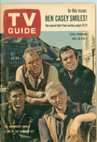 1963 TV Guide Mar 30 Cast of Bonanza Western New England edition Excellent - No Mailing Label  [Lt scuffing along binding; ow clean]