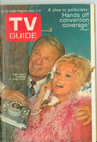 1969 TV Guide Sep 6 Eddie Albert and Eva Gabor of Green Acres Cleveland edition Good to Very Good - No Mailing Label  [Loose at staples, heavy wear and creasing on cover; contents fine]