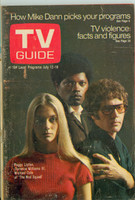 1969 TV Guide Jul 12 Cast of the Mod Squad Western Illinois edition Very Good to Excellent - No Mailing Label  [Wear and toning on cover, contents fine]