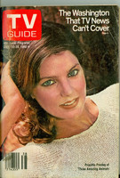 1980 TV Guide Sep 20 Priscilla Presley NY Metro edition Very Good to Excellent - No Mailing Label  [Lt moisture ring on cover, scuffing on cover, contents fine]