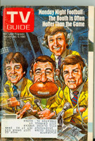 1980 TV Guide Nov 29 Monday Night Football (Cover by Jack Davis) Illinois-Wisconsin edition Excellent  [Lt wear on cover, contents fine]