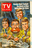1980 TV Guide Nov 29 Monday Night Football (Cover by Jack Davis) Philadelphia edition Very Good - No Mailing Label  [Loose at staples, heavy scuffing and wear on cover]