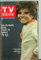 1968 TV Guide Apr 27 Leslie Uggams Philadelphia edition Very Good - No Mailing Label  [Sl loose at staples, wear on cover; contents fine]