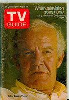 1969 TV Guide Aug 2 Andrew Duggan of Lancer Colorado edition Good to Very Good - No Mailing Label  [Wear and creasing on cover; moisture on cover, contents fine]