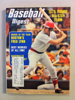 1975 Baseball Digest November Fred Lynn (First Cover) (from the Red Schoendienst Collection) Very Good to Excellent